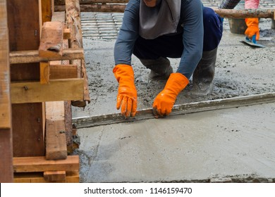 building house, worker, construction irons for building, concrete and equipment