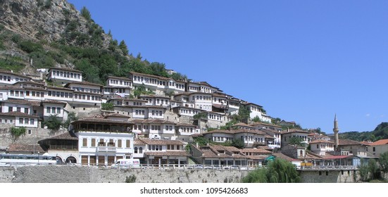 Building and Houses in Berat City Albania, year 2005.