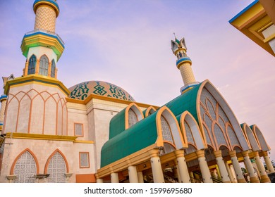 Building of Hubbul Wathan Mosque, Islamic Centre of West Nusa Tenggara, Lombok, Indonesia at Sunrise