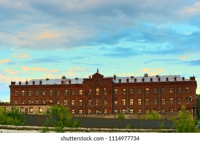 The building of the industrial zone, built in the 19th century. Russia, Kostroma.
