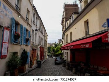 Building inside Place du Tertre, Paris, September 2017