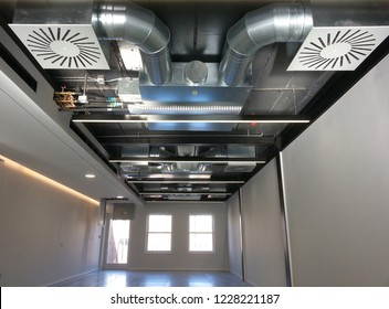Building interior Air Duct, Air Condition pipe line system on the ceiling