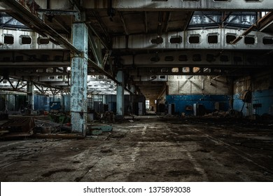 Building interior in Jupiter Factory, Chernobyl Exclusion Zone 2019 angle shot