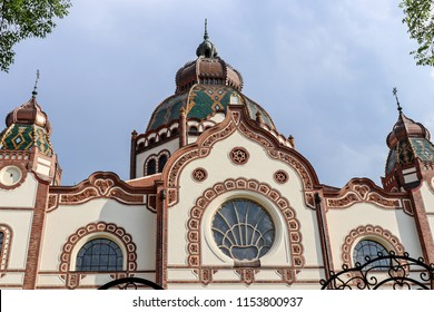 The building of the Jewish Synagogue. Serbia, Subotica, April 29, 2018