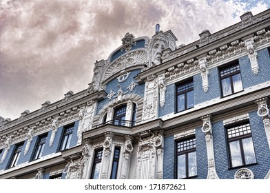 The building, known as B. Boguslovskys house, on Alberta Street 2a was also built according to the project of architect M. Eizentstein in the year 1906. Riga, Latvia