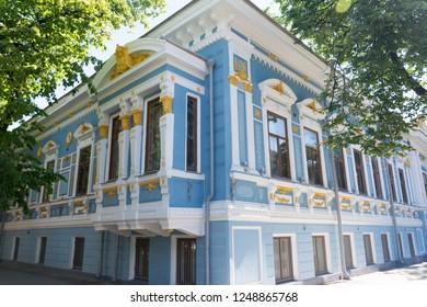 The building of the Literary Museum of writer Maxim Gorky in Nizhny Novgorod