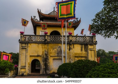 Building at the main gate of the former imperial citadel Thang Long in Vietnams capital Hanoi