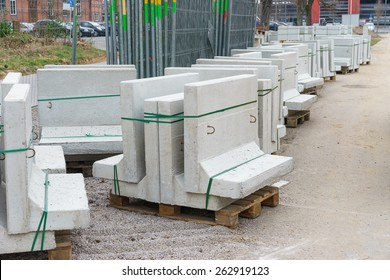 Building materials at the construction site