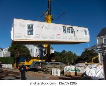 Building a modular house on Nantucket Mass USA onOctober18 2018