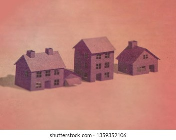 Building, mortgage, investment, real estate, and property concept.Miniature house mockups.