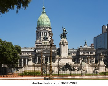 Building of National Congress of Argentina, Congress Square, Buenos Aires. Argentina, South America