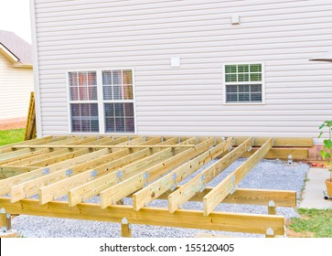 Building a new above ground deck, patio construction.