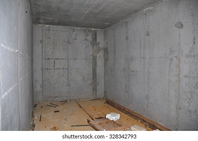 Building New Concrete Storage Cellar or Tornado Shelter Interior