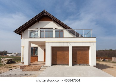 Building New House with Ceramic Tiles Roofing, Garage and balcony