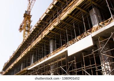 Сonstruction  building. new multi-storey buildings