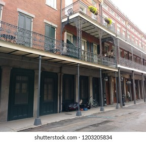 Building in the New Orleans French Quarter