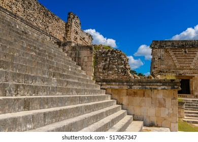 Building of The Nunnery, Uxmal, an ancient Maya city of the classical period. One of the most important archaeological sites of Maya culture. UNESCO World Heritage site