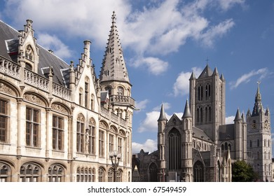 building in the old town of ghent, belgium