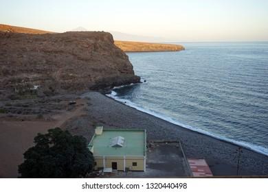 Building on the coast of La Gomera isldn, Spain