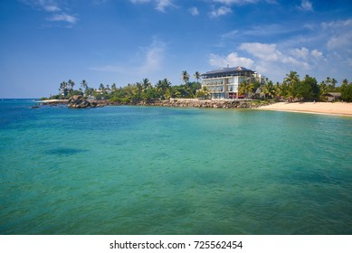 building on the shores of the Indian Ocean in Sri Lanka