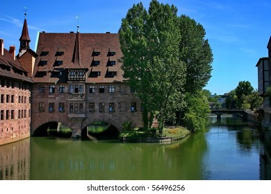 The building of original construction in Nuremberg.