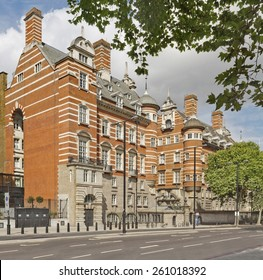 The building of original New Scotland Yard, now called the Norman Shaw Buildings in London, England