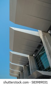 Building overhangs at San Diego airport