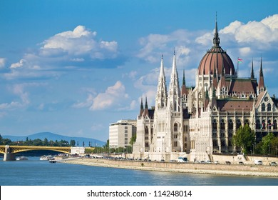 The building of the Parliament in Budapest, Hungary