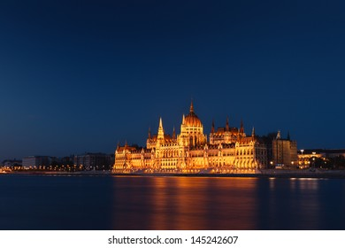 The Building of Parliament in Budapest, Hungary