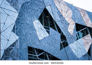 Building patterns close up in Fed Square Melbourne
