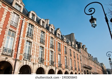 Building place of Vosges in Paris