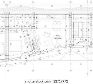 Building plan drawing