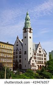 Building of Pomeranian Medical University (polish: Pomorski Uniwersytet Medyczny) in Szczecin city, Poland