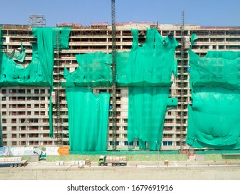 Building in process, apartments construction.