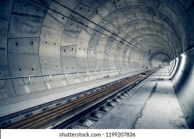 "Building of railway tunnel. ""Ejpovice tunnel"". Railway corridor construction"