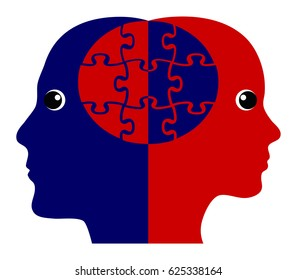 Building Rapport Concept. Two people creating a positive emotional connection