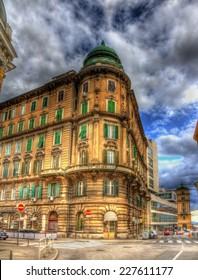 A building in Rijeka city center - Croatia - Shutterstock ID 227611177