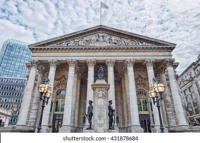building of Royal Exchange in London near Bank underground station