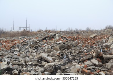 Building ruins at the dead city dump
