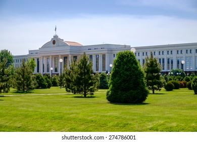 Building of senate in center of Tashkent, Uzbekistan