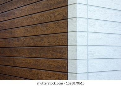 Building of siding outer wall  and concrete