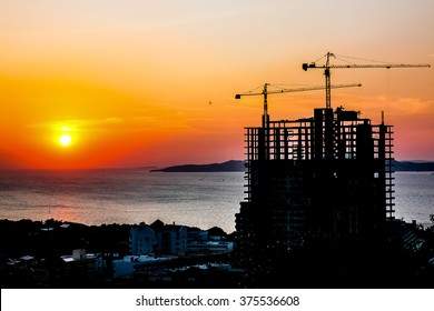 Building Silhouette and sunset
