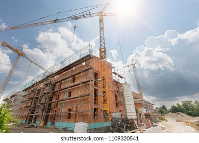 Building site for apartment houses, Germany