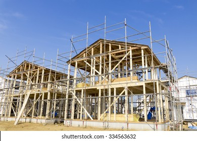 Building site image Wooden construction method of condominiums wooden two-story house