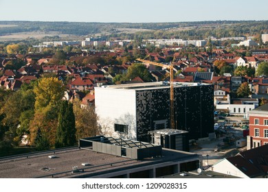 building site of the new bauhaus museum in weimar thuringia
