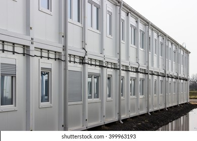 Building site refugee accommodation at waghäusel wiesental germany
