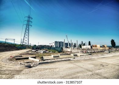 Building site under construction.