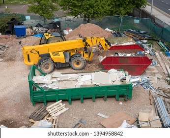 Building site vehicle and skips
