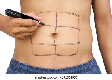 Building six pack is very easy. Draw fake six pack by black marker on belly. Drawing fake six pack is every man's dream. my sixpack.
