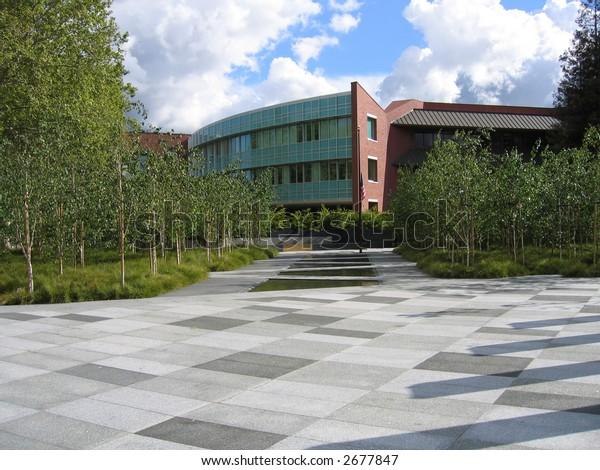 Building, Sky, Courtyard